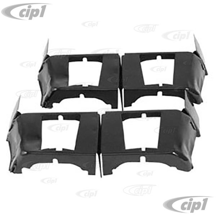 ACC-C10-5444 - EMPI 8877 - PAIR OF BLACK CYLINDER COOL TINS - - ALL 40HP 12-1600CC VW BEETLE/GHIA/TYPE-3/BUS - SOLD PAIR