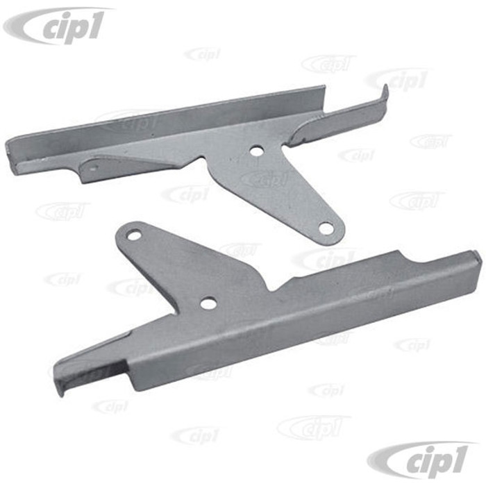 C24-231-069-421-PR - (231069421) PAIR OF LEFT/RIGHT WESTFALIA LOUVER WINDOW HINGE BRACKETS (3 PAIRS REQUIRED TO REBUILD ORIGINAL LOUVER WINDOW) - BUS TO 1967 - SOLD PAIR