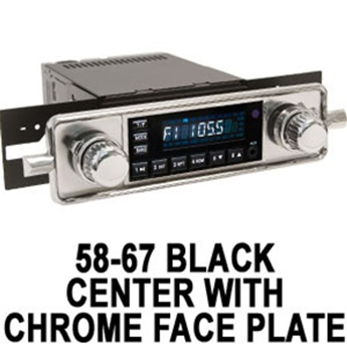 ACC-C10-3525  - RETROSOUND VINTAGE STYLE 12-VOLT DIGITAL AM/FM RADIO - WITH USB and AUX. MP3 PORTS - (WITH YOUR CHOICE OF FACE PLATE)