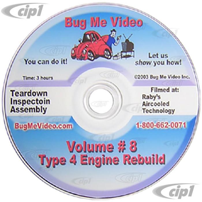 ACC-C10-9607-DVD - BUG-ME DVD VERSION - VOL-8  TYPE 4 ENGINE REBUILD