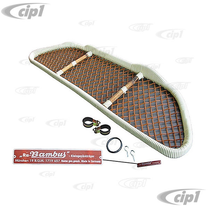 C24-C10-1251 - IMPORTED FROM EUROPE - BAMBUS UNDER DASH PARCEL SHELF W/HARDWARE - BEETLE CONVERTIBLE ONLY 58-72 - SOLD EACH