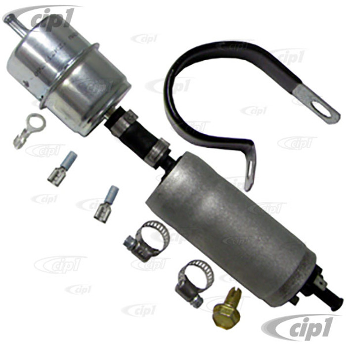 C26-127-205 - CARTER 12V ELECTRIC FUEL PUMP KIT - WITH FILTER AND BUILT-IN REGULATOR - 3.5 P.S.I. - WITH 5/16 INCH INLET/OUTER - SUITABLE FOR ALL CARBURETED CARS - SOLD KIT