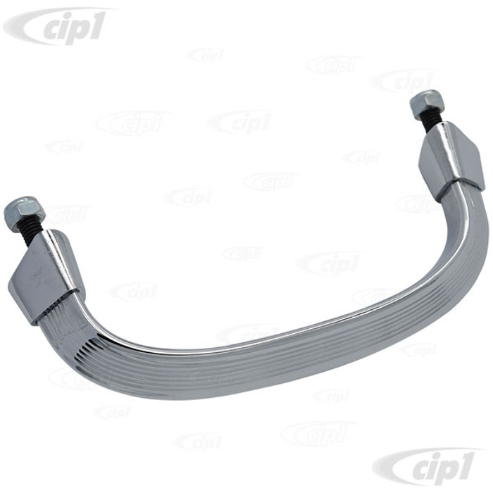 C26-151-857-641-BCH - (151857641B) EXCELLENT QUALITY - CHROMED ALUMINUM DASH GRAB HANDLE WITH CHROME ENDS - BEETLE 58-67 - SOLD EACH