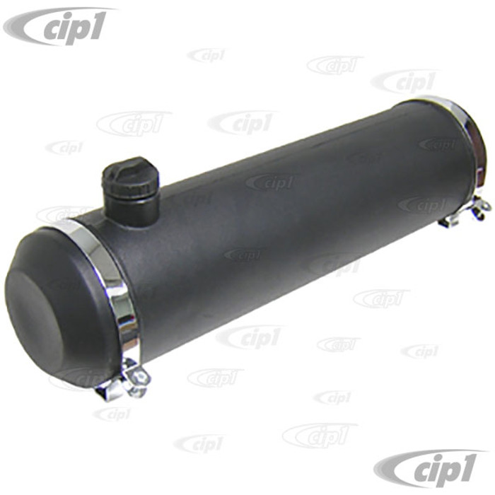 C26-201-111 - 8-INCH X 33-INCH - 8 GALLON POLY GAS TANK - BLACK (WITHOUT GAS CAP AND CHROME MOUNTING BRACKETS) - (A30)