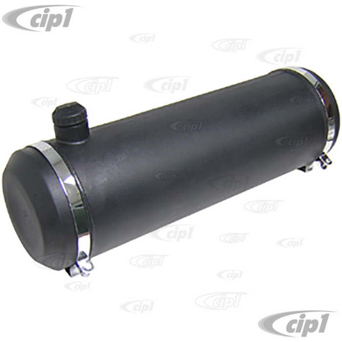 C26-201-113 - 10-INCH X 33-INCH - 11 GALLON POLY GAS TANK - BLACK  (WITHOUT GAS CAP AND CHROME MOUNTING BRACKETS) - (A30)