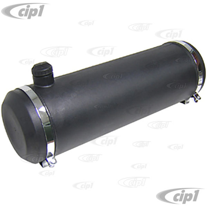C26-201-115 - 10-INCH X 40-INCH - 13.5 GALLON POLY GAS TANK - BLACK (WITHOUT GAS CAP AND CHROME MOUNTING BRACKETS) - (A30)