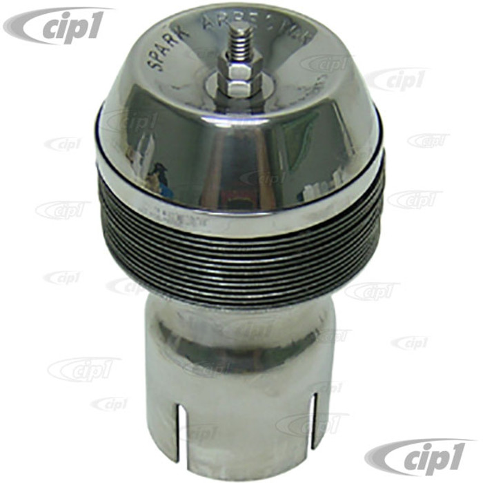C26-251-074-2S - POLISHED STAINLESS STEEL 3 INCH DIAMETER SPARK ARRESTOR - CLAMP-ON STYLE - FITS 2 INCH PIPE