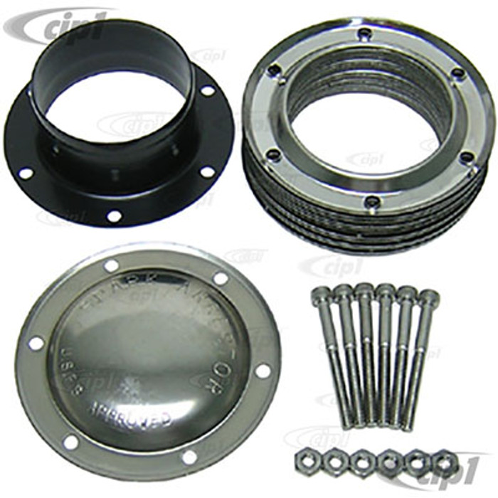 C26-251-078S - STAINLESS STEEL 5 INCH DIAMETER SPARK ARRESTOR - WELD-ON STYLE - FITS 3 INCH PIPE - SOLD EACH
