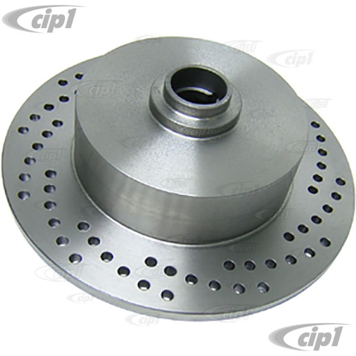 C26-407-075-113VN - BLANK UNDRILLED BALL-JOINT FRONT ROTOR - X-DRILLED -STD BEETLE 66-77 GHIA 66-74 TYPE 3 66-2/71 - SOLD EACH - (A20)