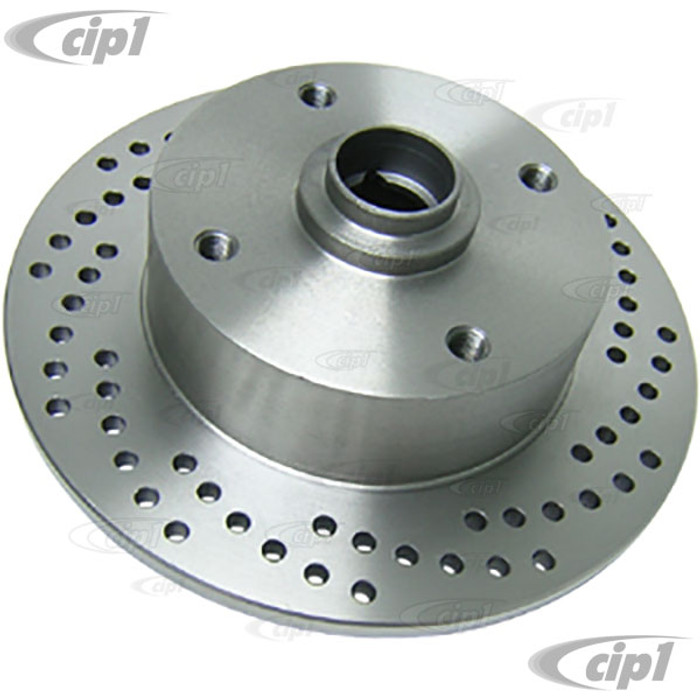 C26-407-075V - 4X130MM FRONT ROTOR FOR KING-LINK SPINDLES - X-DRILLED - DRILLED FOR 14MM BOLT HOLES - (NOT FOR BALLJOINT SPINDLES) SOLD EACH - (A20)