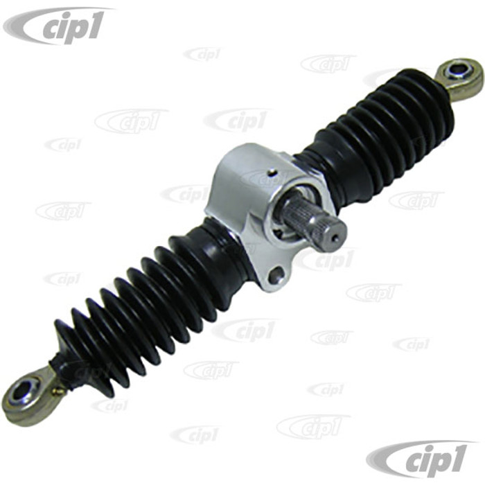 C26-425-140 - 11 INCH BILLET THIN LINE RACK-PINION - 10-7/8 INCHES CENTER TO CENTER - 4-3/4 INCHES LOCK TO LOCK TRAVEL