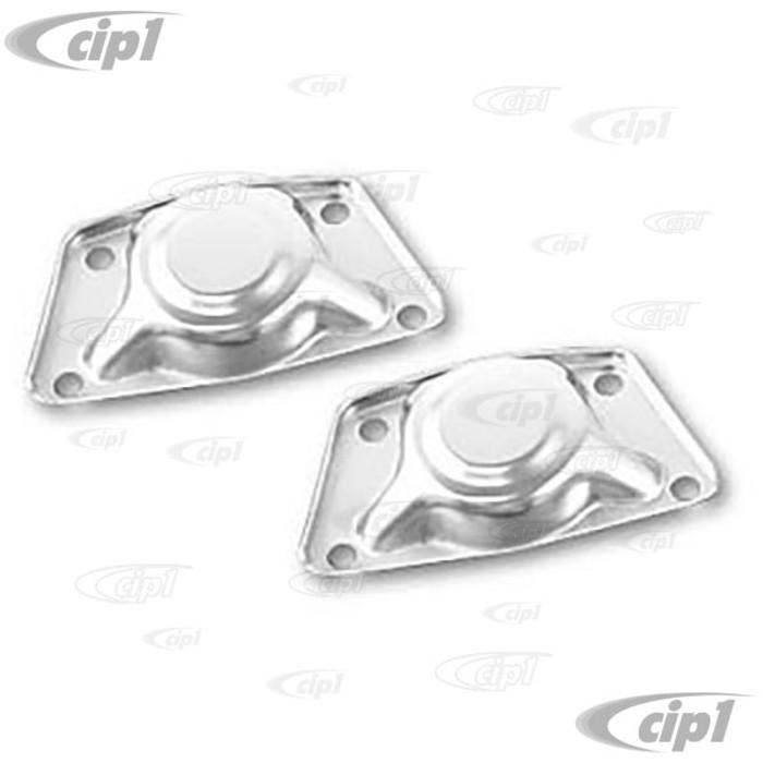 ACC-C10-4055 - CHROME SPRING PLATE CAPS PR - BEETLE 60-68 / GHIA 60-68 / TYPE 3 62-68