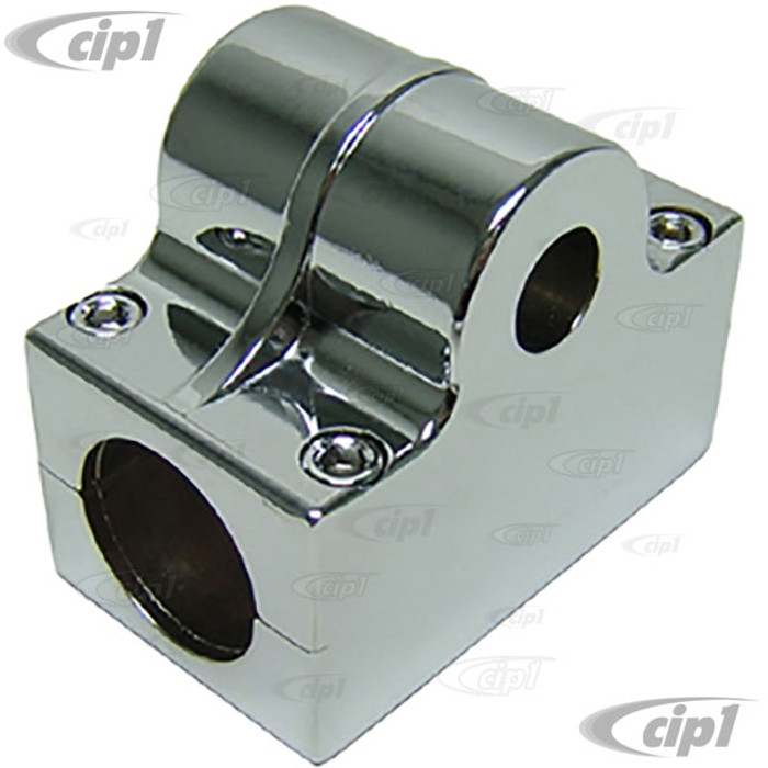 C26-750-131-3 - ALUMINUM STEERING SHAFT HOUSING FOR 3/4 INCH UNIVERSAL SHAFT - CLAMPS OVER 1-1/2 INCH TUBING - SOLD EACH