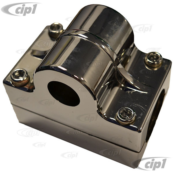 C26-750-131-7 - ALUMINUM STEERING SHAFT HOUSING FOR 7/8 INCH UNIVERSAL SHAFT - CLAMPS OVER 1-1/2 INCH TUBING - SOLD EACH