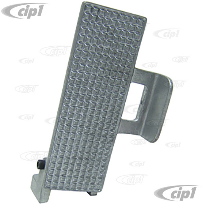 C26-798-550 - ANGLED THROTTLE PEDAL WITH FOOT BRACE - UNPOLISHED