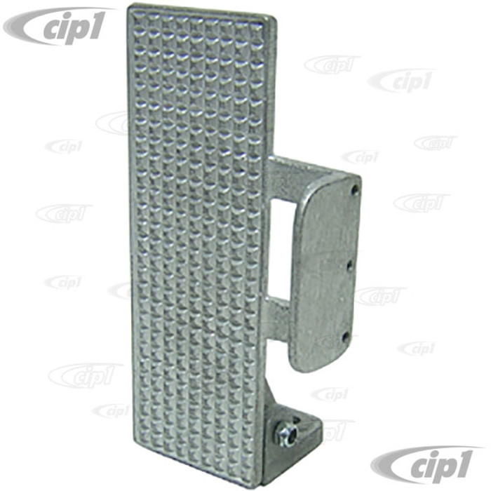 C26-798-551 - STRAIGHT THROTTLE PEDAL WITH FOOT BRACE - UNPOLISHED