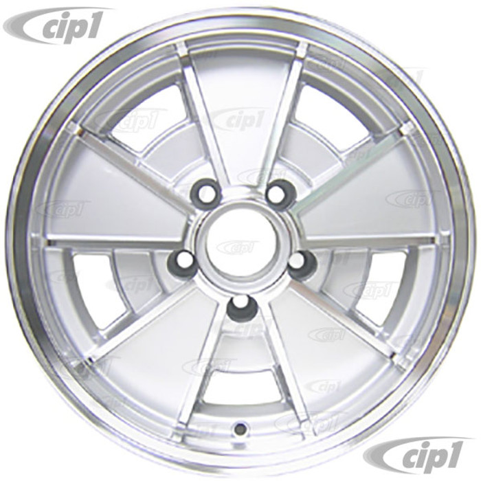 ACC-C10-6665 - BRM REP. SILVER WHEEL -BUS 71-79 - VANAGON 80-92 - 15 IN. x 5.5 IN. WIDE (5X112MM) - 15 X 5-1/2 - CENTER CAP AND MOUNTING HARDWARE IS SOLD SEPARATELY - (A20)
