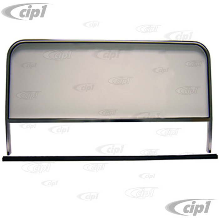 C26-845-020 - BUGGY WINDSHIELD WITH ALUMINUM FRAME - FITS MANX STYLE BODY - 42-1/4 INCH WIDE - MOUNTING HARDWARE NOT INCLUDED - SOLD EACH