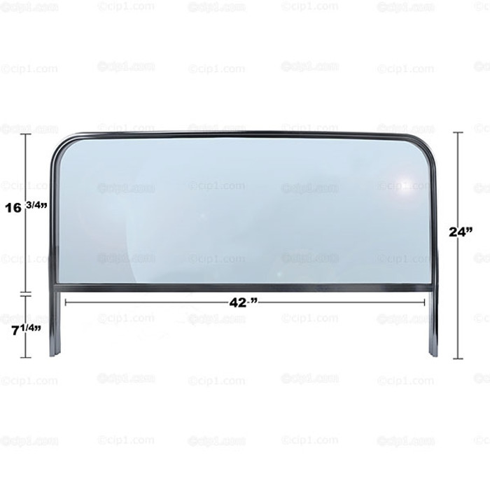 C26-845-021 - BUGGY WINDSHIELD WITH ALUMINUM FRAME - FITS MANX STYLE BODY - 42 INCH WIDE - MOUNTING HARDWARE NOT INCLUDED - SOLD EACH