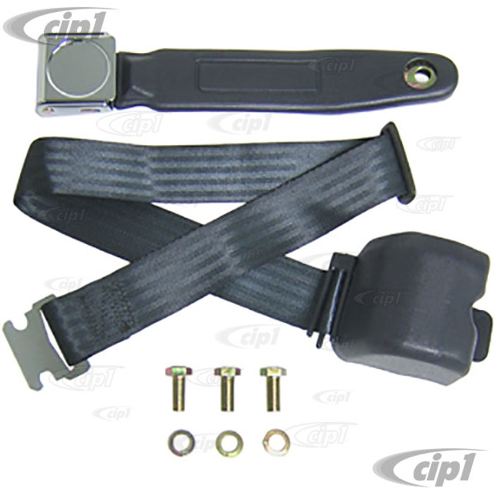 C26-857-023L - RETRACTABLE 2-POINT VINTAGE STYLE SEAT BELT - FITS ANY YEAR - SOLD EACH (PER SEAT)
