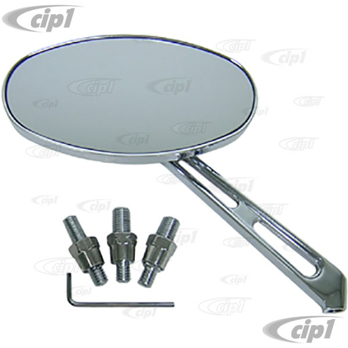 C26-857-825 - CHROME BUGGY MIRROR OVAL LEFT OR RIGHT