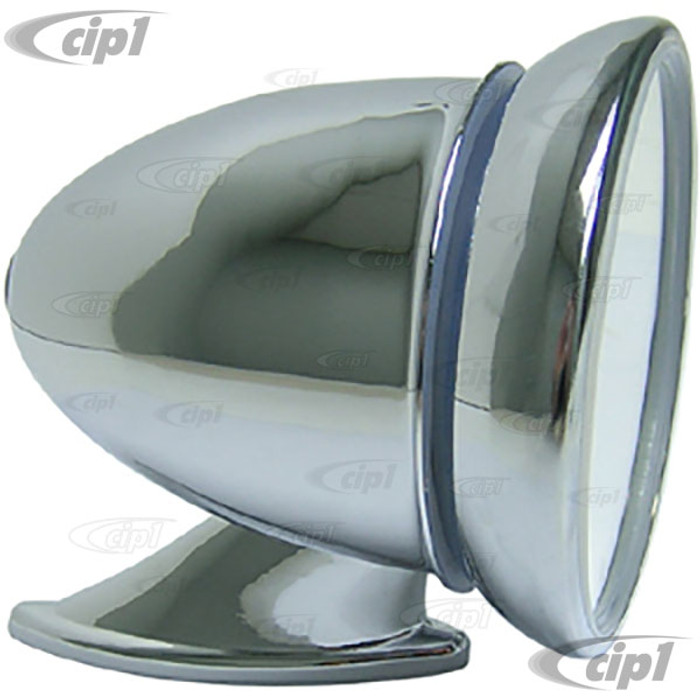 C26-857-845 - 3.5 INCH DIA. CHROME (METAL) BULLET SIDE MIRROR - LEFT OR RIGHT
