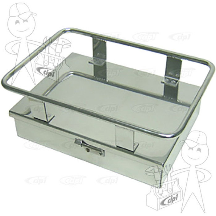 C26-898-100-18 - LARGE ALUMINUM COOLER RACK WITH STORAGE BOX (TIE-DOWN STRAP NOT INCLUDED) - 10-1/4 INCH WIDE X 14 INCH LONG - SOLD EACH
