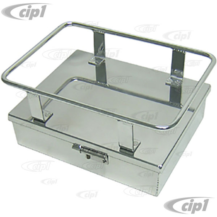 C26-898-100-6 - SMALL ALUMINUM COOLER RACK WITH STORAGE BOX (TIE-DOWN STRAP NOT INCLUDED) - 9 INCH WIDE X 11-1/2 INCH LONG - SOLD EACH