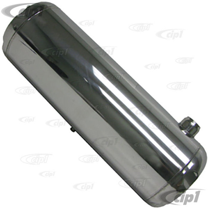 C26-TKS1030 - STAINLESS STEEL - 10 GALLON GAS TANK  10-INCH X 30-INCH (WITHOUT GAS CAP AND CHROME MOUNTING BRACKETS) - (A30)