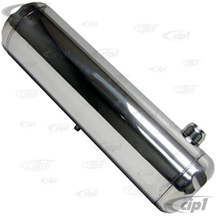 C26-TKS824 - STAINLESS STEEL - 5 GALLON GAS TANK  8-INCH X 24-INCH (WITHOUT GAS CAP AND CHROME MOUNTING BRACKETS) - (A30)