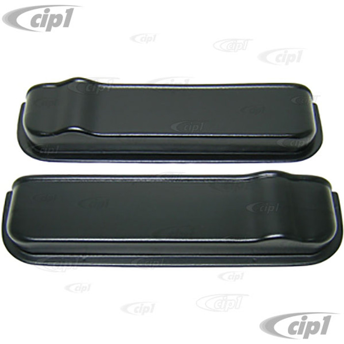 C27-J12373 - DOOR STORAGE POCKETS - PAIR OF BLACK PLASTIC DOOR STORAGE POCKETS - 20.75 INCHES LONG (530MM) - BUS 68-79 - SOLD LEFT AND RIGHT PAIR
