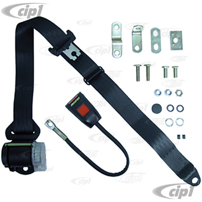 C27-SEC50045 - FRONT 3 POINT RETRACTABLE SEAT BELT - FITS LEFT OR RIGHT BUS 68-79 / VANAGON 80-91 - SOLD 1 PER SEAT