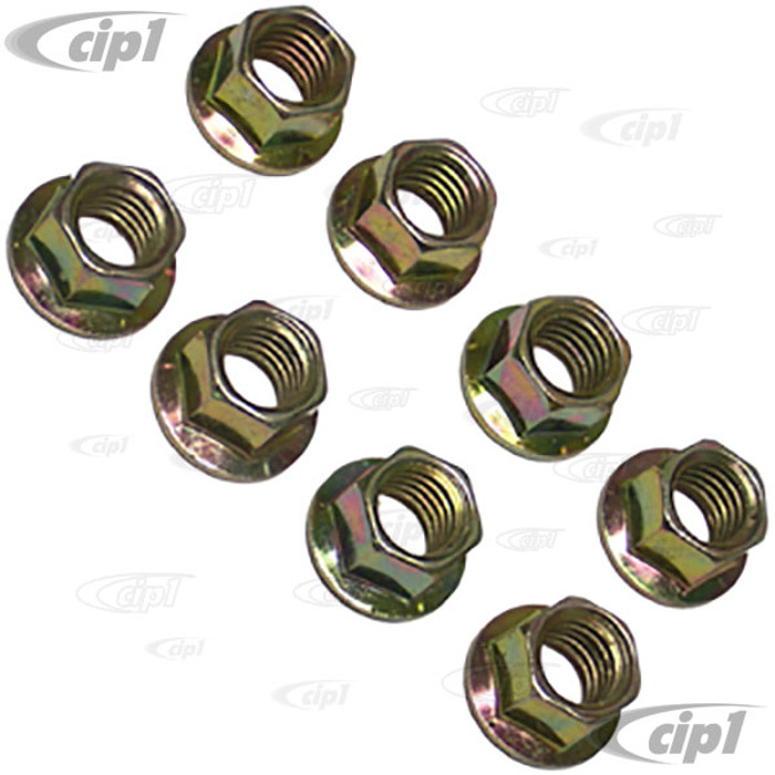 C31-011-008-NF - (17-2983) EXHAUST / INTAKE NUTS 10MM O.D. X 8MM THREAD - SET OF 8 PIECES