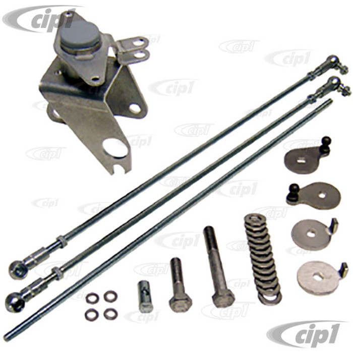C31-129-941-100IDA - 1600CC BEETLE STYLE ENGINE DUAL IDA STYLE CARB BELLCRANK LINKAGE KIT (FITS WITH 911 STYLE FAN SHROUD) - SOLD EACH