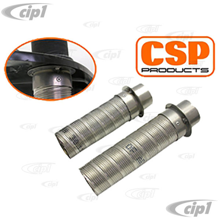 C31-255-165-CSP - CSP - HEAVY-DUTY HEATER HOSE FITTINGS - FOR ALL BEETLE STYLE 12-1600CC ENGINES WITH CSP OR AFTERMARKET HEADER EXHAUST SYSTEMS - SOLD PAIR