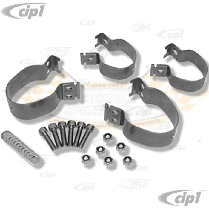 C31-498-101-111SC - CSP MADE IN GERMANY - BEST QUALITY STAINLESS STEEL SWAYBAR BRACKET KIT - BALL-JOINT FRONT BEAM - BEETLE/GHIA 66-77 - SOLD IN SET OF 4 WITH HARDWARE