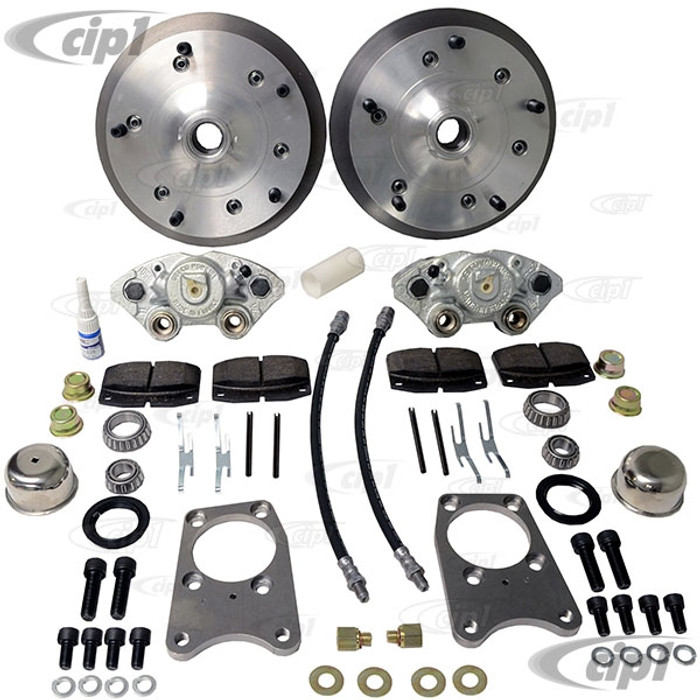 C31-499-1303-5205 - CSP MADE IN GERMANY - 71-79 SUPER BEETLE BOLT-ON (DRUM SPINDLE) DISC BRAKE KIT - WITH 5x205MM BOLT PATTERN - (A50)