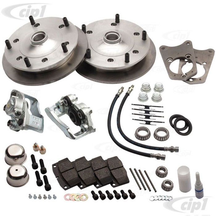 C31-499-165-5205ZO - CSP MADE IN GERMANY - 52-65 BEETLE/GHIA BOLT-ON (DRUM SPINDLE) DISC BRAKE KIT - WITH 5x205MM BOLT PATTERN - WITH ZERO OFF-SET - (A50)