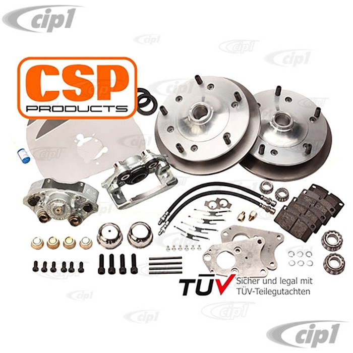 C31-499-356-5205B - CSP MADE IN GERMANY - FRONT DISC BRAKE KIT WITH SOLID ROTORS - WITH 5x205MM BOLT PATTERN - PORSCHE 356B 01/59-12/63 - SOLD KIT