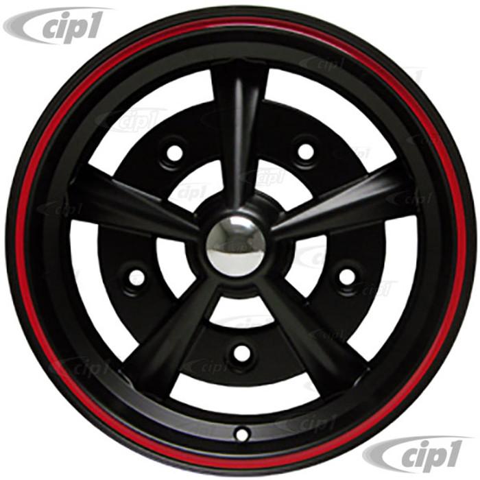 ACC-C10-6657-BMRR - MATTE BLACK W/RED RIM RADER STYLE WHEEL (RAIDER) - 15 INCH X 5 INCH - 5 X 205MM BOLT WHEEL (3.25 IN. BACKSPACE) - SOLD EACH
