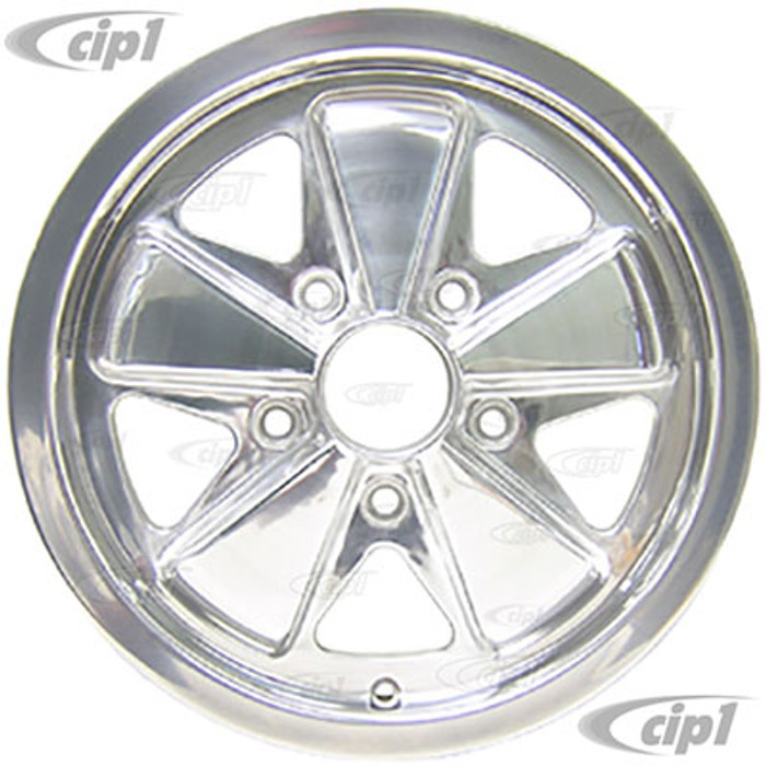 C32-6015FOO513035HP - 911 STYLE 5 SPOKE ALUMINUM WHEEL - FULLY POLISHED - 6 INCH WIDE X 15 INCH DIA. - 5X130MM BOLT PATTERN (ET-35) - CENTER CAP AND HARDWARE SOLD SEPARATELY - SOLD EACH