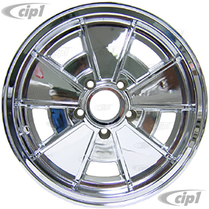 C32-BR1C - BRM FULLY CHROME PLATED WHEEL -BUS 71-79 - VANAGON 80-92 - 15 IN. x 5.5 IN. WIDE (5X112MM) - 15 X 5-1/2 - CENTER CAP AND MOUNTING HARDWARE IS SOLD SEPARATELY  - (A20)