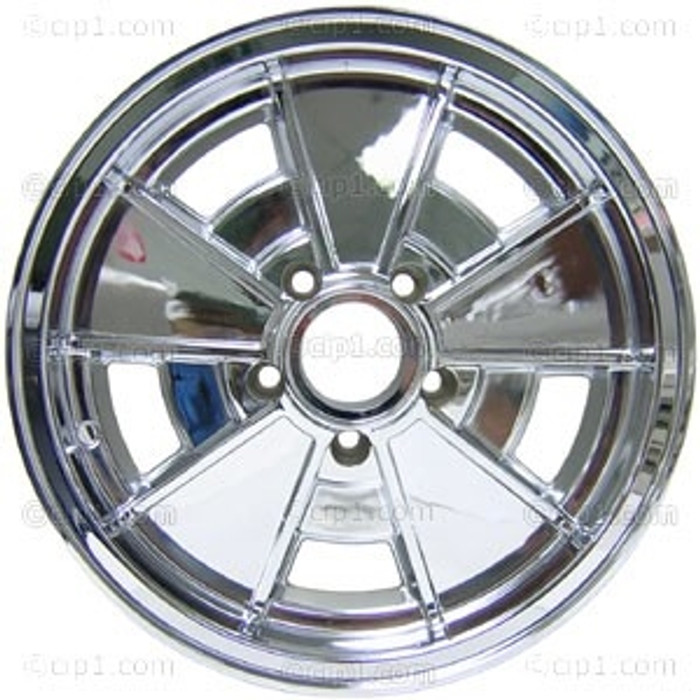 C32-BR1C-BLEM - BLEMISHED - BRM FULLY CHROME PLATED WHEEL -BUS 71-79 - VANAGON 80-92 - 15 IN. x 5.5 IN. WIDE (5X112MM) - 15 X 5-1/2 - CENTER CAP AND MOUNTING HARDWARE IS SOLD SEPARATELY - AS IS - ALL SALES FINAL! - (A20)