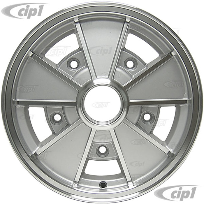 C32-BR3S - BRM REPLICA SILVER 5 SPOKE WHEEL - 15 IN. x 4.5 IN. WIDE - WIDE 5 BOLT PATTERN (5x205MM) CENTER CAP AND MOUNTING HARDWARE IS SOLD SEPARATELY - SOLD EACH