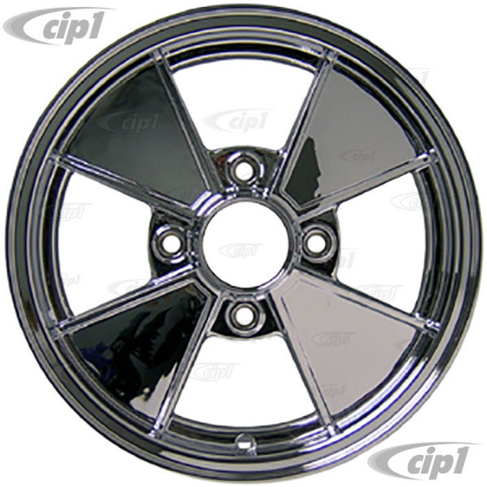 C32-BR4C - Cip1 RESTO WHEELS - CHROME BRM REPLICA 4 SPOKE WHEEL - 15 INCH x 4.5 INCH WIDE (4x130MM BOLT PATTERN) CENTER CAP AND MOUNTING HARDWARE IS SOLD SEPARATELY - SOLD EACH