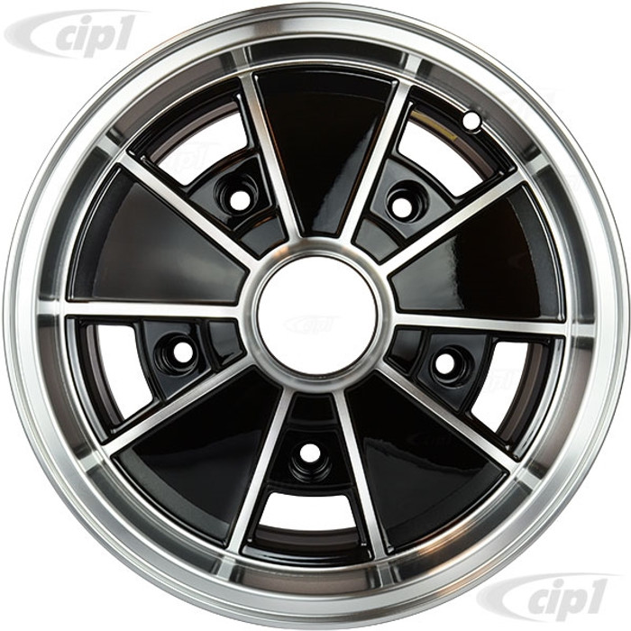 C32-BR6B - BRM REPLICA BLACK 5 SPOKE WHEEL - 15 IN. x 6.5 IN. WIDE - WIDE 5 BOLT PATTERN (5x205MM) CENTER CAP AND MOUNTING HARDWARE IS SOLD SEPARATELY - SOLD EACH - (A20)