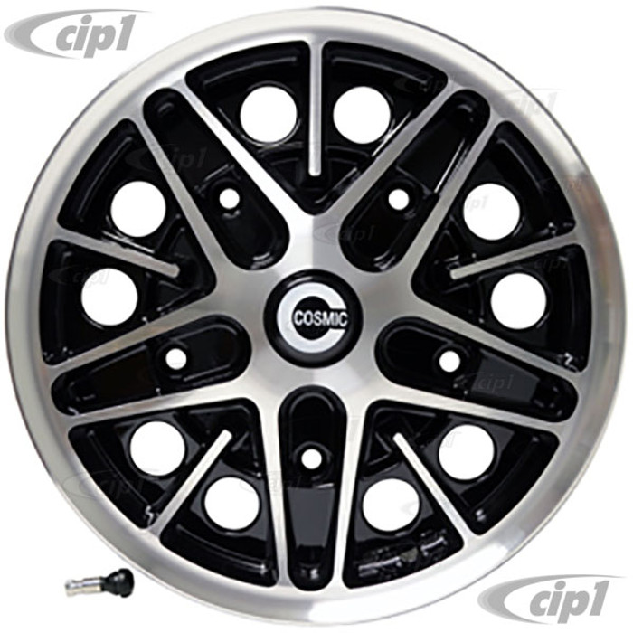 C32-COS205-5515-B - COSMIC ROAD WHEEL - GLOSS BLACK - 15 INCH X 5.5 INCH WIDE - WIDE 5 - 5X205MM BOLT PATTERN - 4INCH BACKSPACE - CAP INCLUDED - HARDWARE SOLD SEP. - SOLD EACH - (A20)