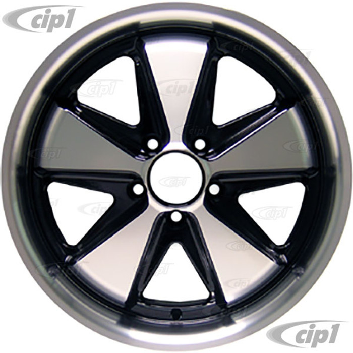 C32-FU171B - 911 STYLE 5 SPOKE ALUMINUM WHEEL - BLACK AND MACHINED/POLISHED SPOKES - 7 INCH WIDE X 17 INCH DIA.(5.5 IN. BACKSPACE/ET40) - 5X112MM BOLT PATTERN - CENTER CAP AND HARDWARE SOLD SEPARATELY - SOLD EACH