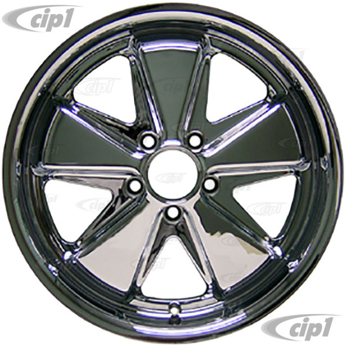 C32-FU171C - 911 STYLE 5 SPOKE ALUMINUM WHEEL - FULLY CHROMED - 7 INCH WIDE X 17 INCH DIA.(5.5 IN. BACKSPACE/ET40) - 5X112MM BOLT PATTERN - CENTER CAP AND HARDWARE SOLD SEPARATELY - SOLD EACH