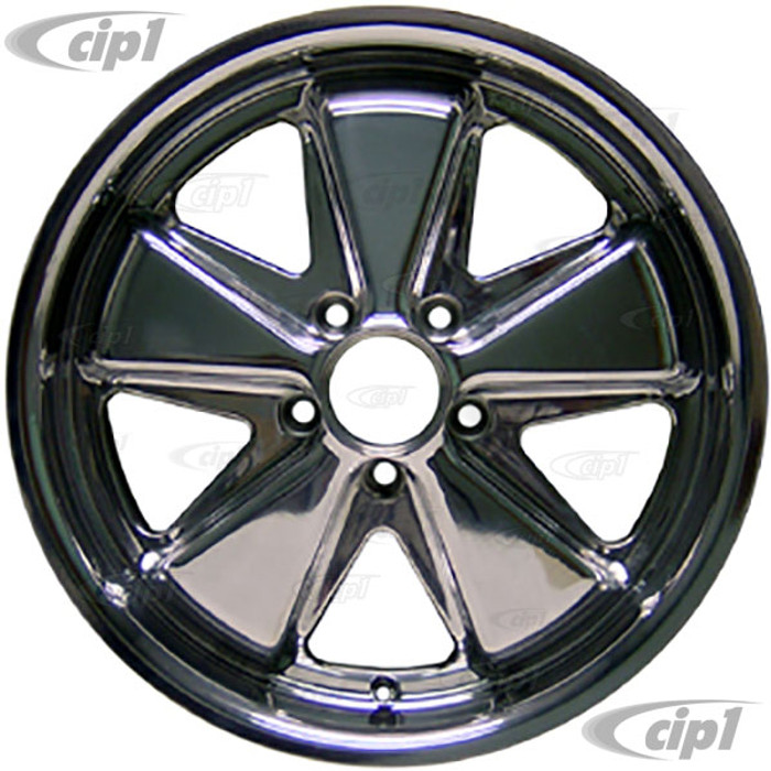 C32-FU171P - 911 STYLE 5 SPOKE ALUMINUM WHEEL - FULLY POLISHED - 7 INCH WIDE X 17 INCH DIA.(5.5 IN. BACKSPACE/ET40) - 5X112MM BOLT PATTERN - CENTER CAP AND HARDWARE SOLD SEPARATELY - SOLD EACH